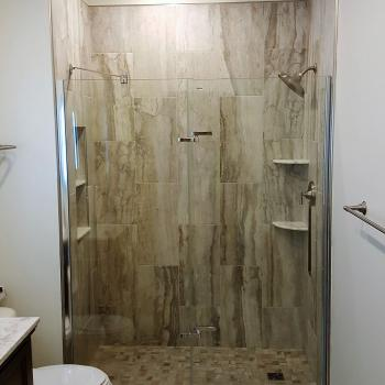 Bathroom and office remodeling project, Fulton