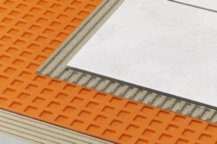 1. Uncoupling and waterproofing membrane: Schluter®-DITRA