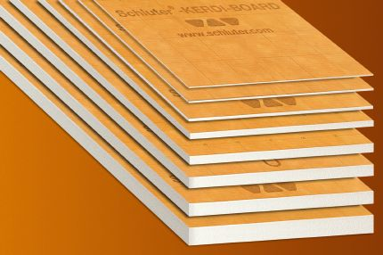 1. Building Panel: Schluter®-KERDI-BOARD