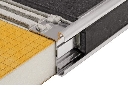 3. Countertop Profile: Schluter®-RONDEC-CT